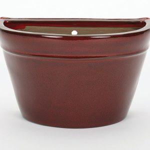 Glazed Wall Pot Red
