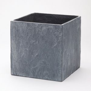 Slate Cube Planter grey