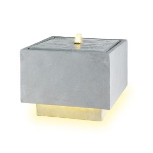 LED Cube Shaped Water Fountain