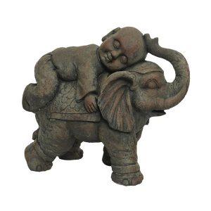 Elephant with monk