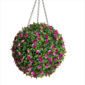 Artificial Rose Topiary Ball