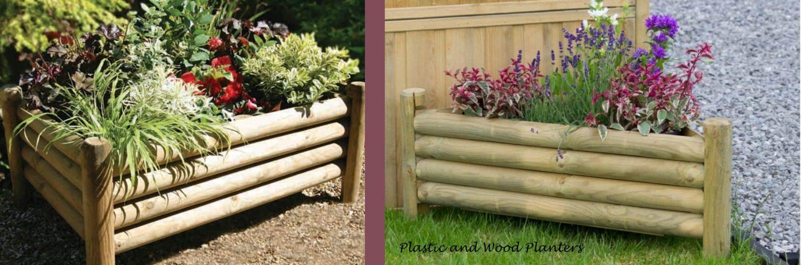 PLASTIC & WOOD PLANTERS