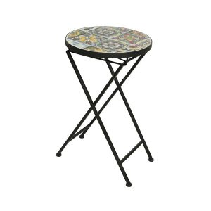 braga mosiac side table