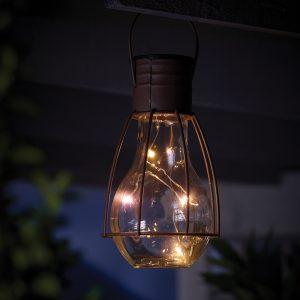 solar caged lightbulb