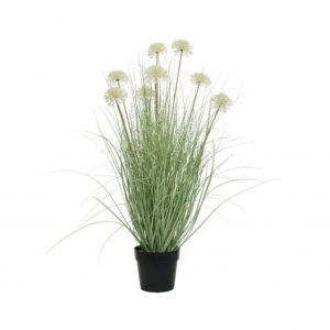 Artificial Grass With Allium Flower