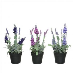 Artificial Lavender in Pot