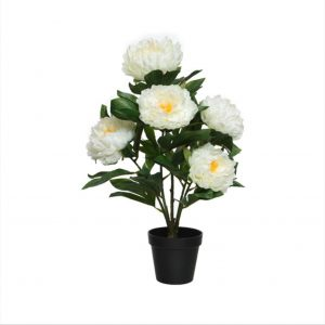 Artificial Peony Plant in Pot