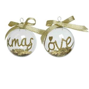 Gold Glitter Decorative Bauble
