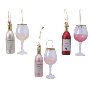Assorted Wine Figure Baubles
