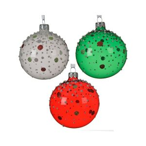 Baubles with Glitter Dots (Assorted)