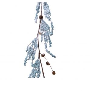 Blue Berry Garland with Pinecones