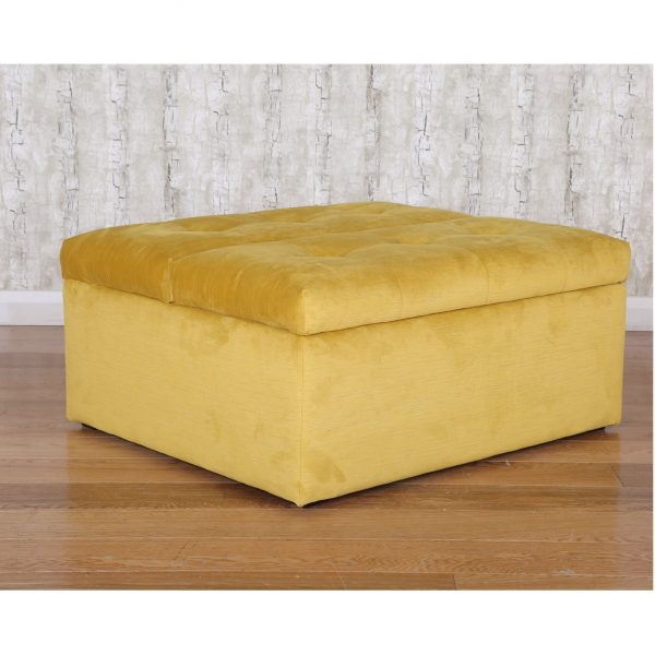 Footstool that turns into bed