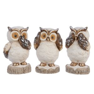 Assorted Christmas Owls