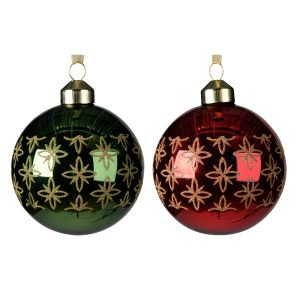 Assorted Baubles with Star Border