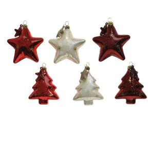 Assorted Baubles Star/Tree