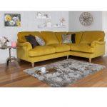 Mustard corner sofa