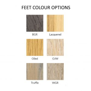 Feet colour options.