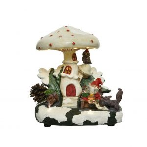 LED Gnome House with Animals