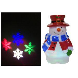 LED Snowman Projector