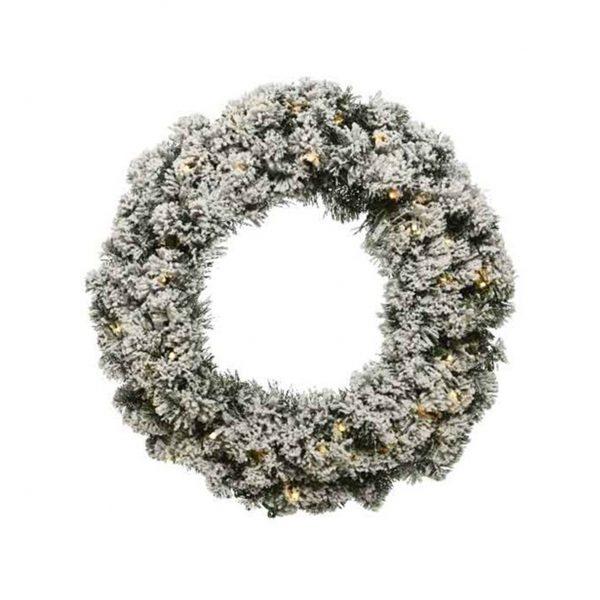 Prelit Snowy Imperial Wreath