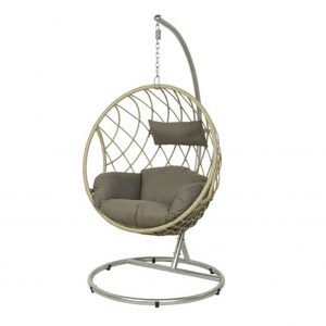 Grey Round Egg Chair